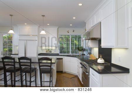 Newly Remodeled White Kitchen