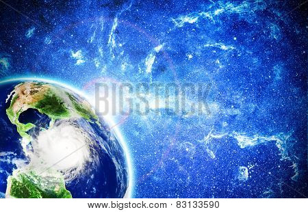 View On Storm In Caribbean Sea From Space