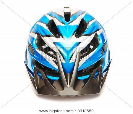 Blue Bicycle Helmet