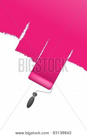 pink paint brush