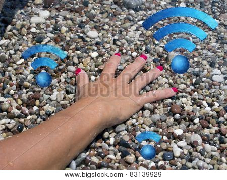 Looking For A Good Wifi Connection On The Beach