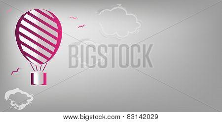 hot air balloon background