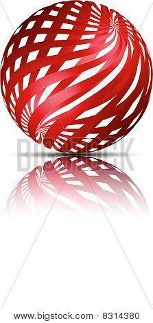 2D 3D Red ball