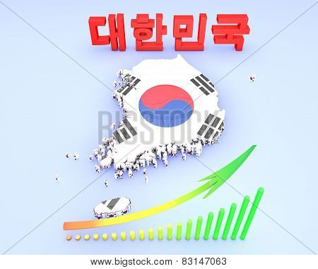 Map Illustration Of South Korea