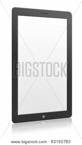 Illustration Of Computer Tablet With Blank Screen With Reflection