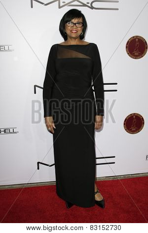 LOS ANGELES - FEB 14: Cheryl Boone Isaacs at the Make-Up Artists & Hair Stylists Guild Awards at the Paramount Theater on February 14, 2015 in Los Angeles, CA