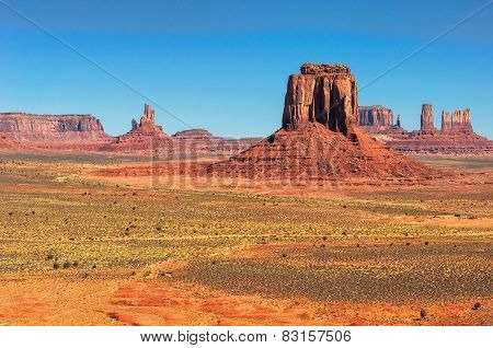 Monument Valley West and East Mittens Butte Utah National Park