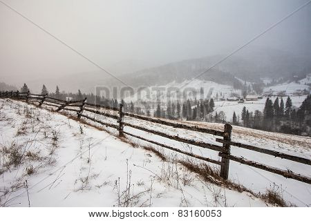 Clearing Snow Storm In The Rocky Mountains
