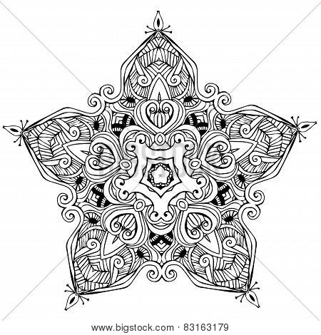 Mandala Card black-white