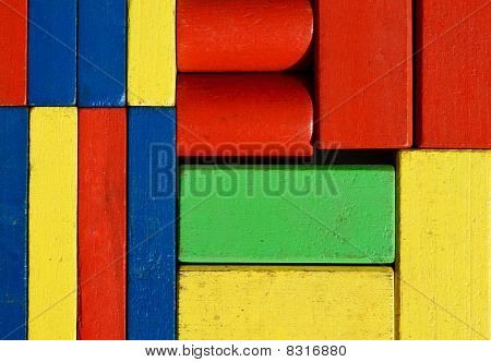Old Wooden Toy-blocks  Background