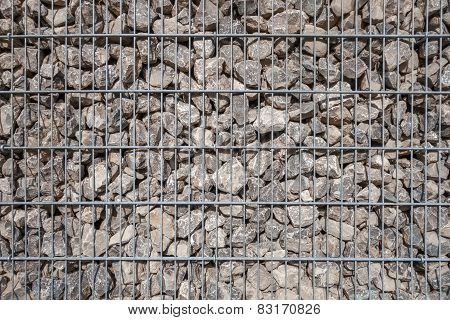 Section of a large gabion