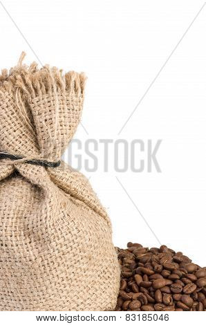 Jute Sack And Coffee Beans