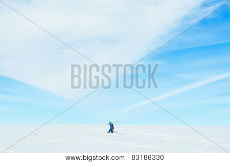 Lonely Little Skier