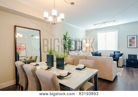 Modern dining room interior design.