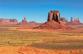 Monument Valley West and East Mittens Butte Utah National Park poster