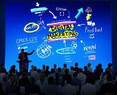 Digital Marketing Branding Strategy Online Media Concept poster