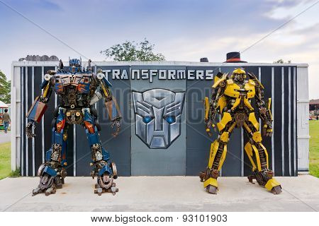The Replica Of Robot Statue From Transformers