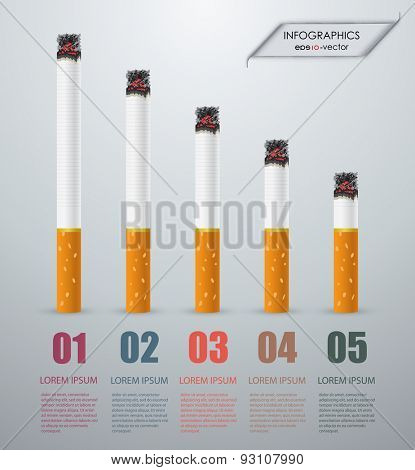 Vector illustration on the theme of smoking