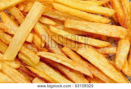 French Fries Fried In Oil