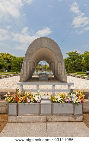Cenotaph Of Peace Memorial Park In Hiroshima, Japan