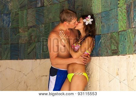 Happy Attractive Couple In Swimsuites