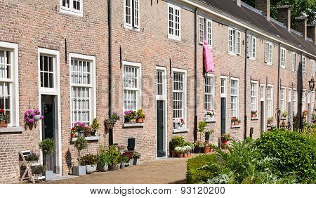 Historic Beguinage In The Dutch City Of Breda