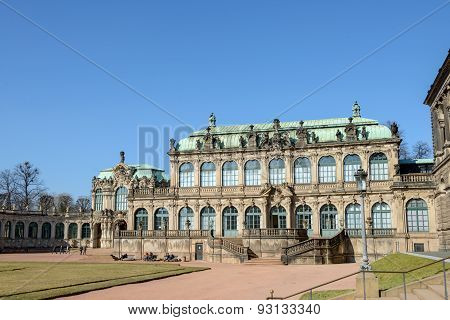View Of Zwinger Towards French And Rampart Pavilions, Dresden, Germany.