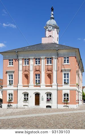 Historic townhall of Templin East Germany, Uckermark