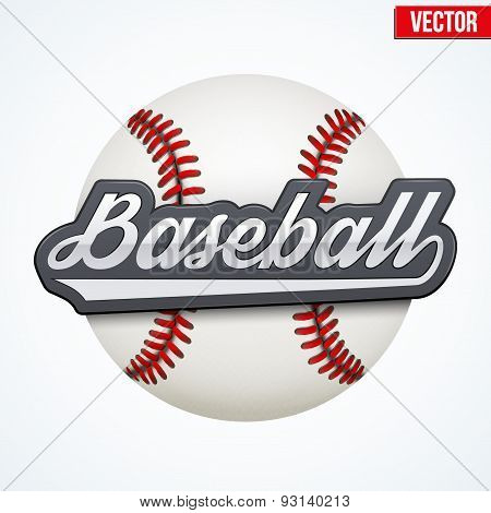 Premium Baseball label