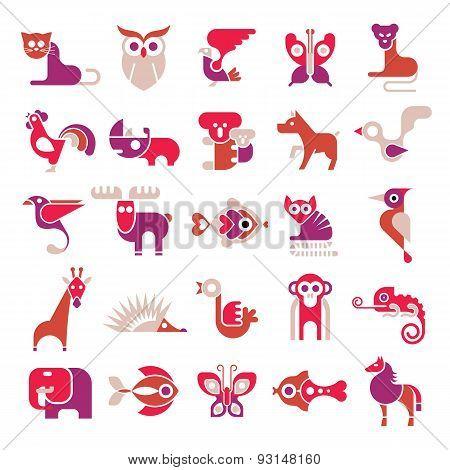 Animal Vector Flat Icons