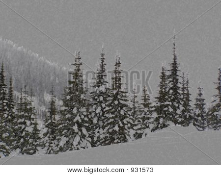 Artistic Winter Treeline