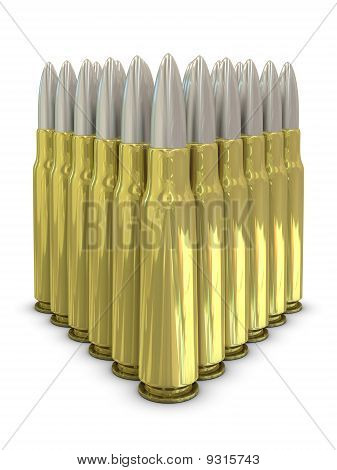 Rifle bullets in group