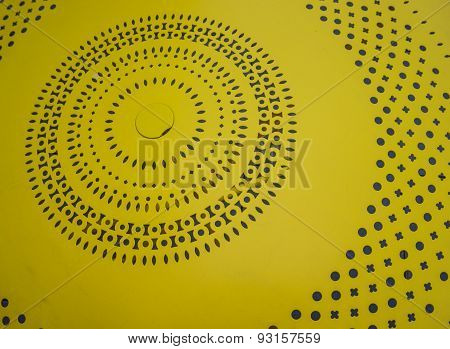 bright yellow table top