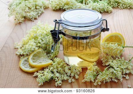 Elderflower Syrup With Blossoms