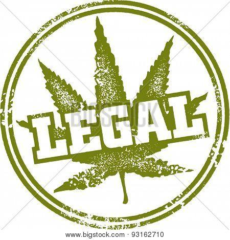 Legal Marijuana Stamp