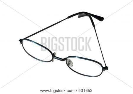 a pair of glasses on a white background poster