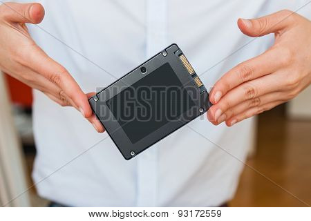 Holding New Flash Ssd