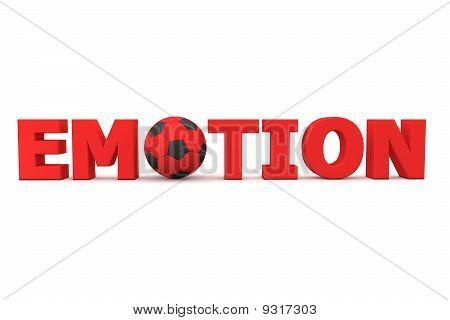 Futebol emoção vermelho