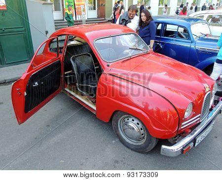 Sweden Retro Car Of 1950S Saab 93