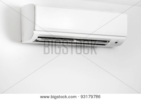 air condition wall split system, white background