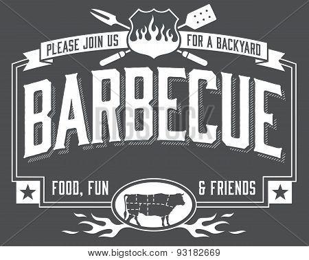 Backyard Barbecue Invitation