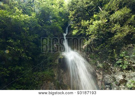 Falls In Mountains