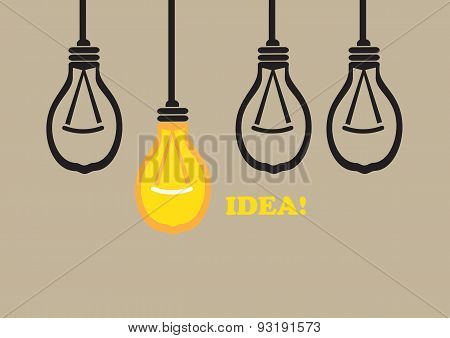 Bright Idea Conceptual Vector Illustration