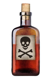 Old Fashioned Poison Bottle.