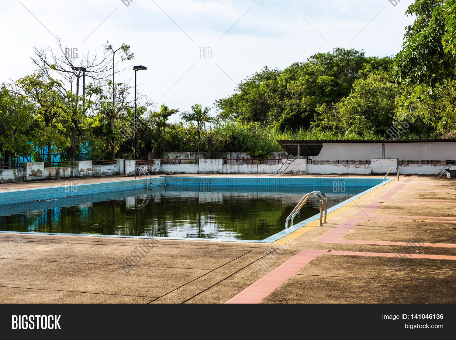 Old Abandoned Swimming Image Photo Free Trial Bigstock