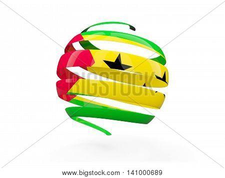 Flag Of Sao Tome And Principe, Round Icon