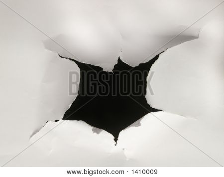 Torn Paper Hole