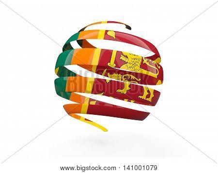 Flag Of Sri Lanka, Round Icon