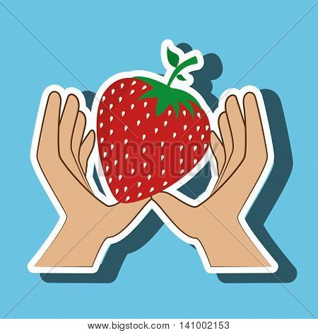 hand food vegan fruit vector illsutration graphic