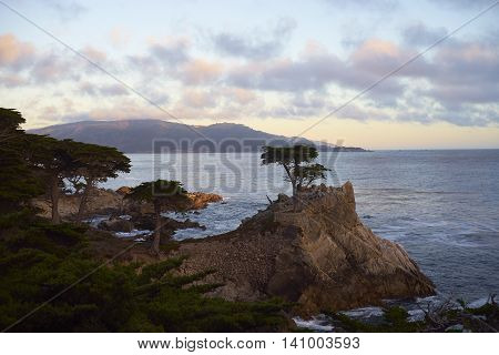 sunset at 17 mile drive California USA